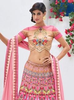 Stunning Look Silk Printed Designer Lehenga Choli