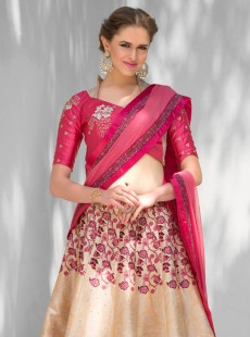 Stunning Look Silk Printed Party Wear Lehenga Choli