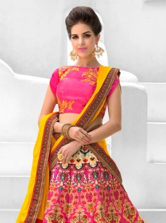 Stupendous Look Silk Printed Party Wear Lehenga Choli