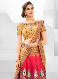 Stylish Look Silk Printed Casual Wear Lehenga Choli