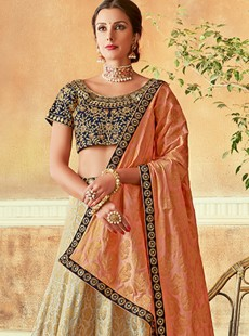 Stylish Three Pis Designer Lehenga Choli