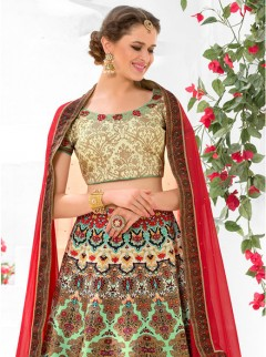 Superb Look Silk Printed Designer Lehenga Choli