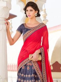 Trendy Look Silk Printed Designer Lehenga Choli