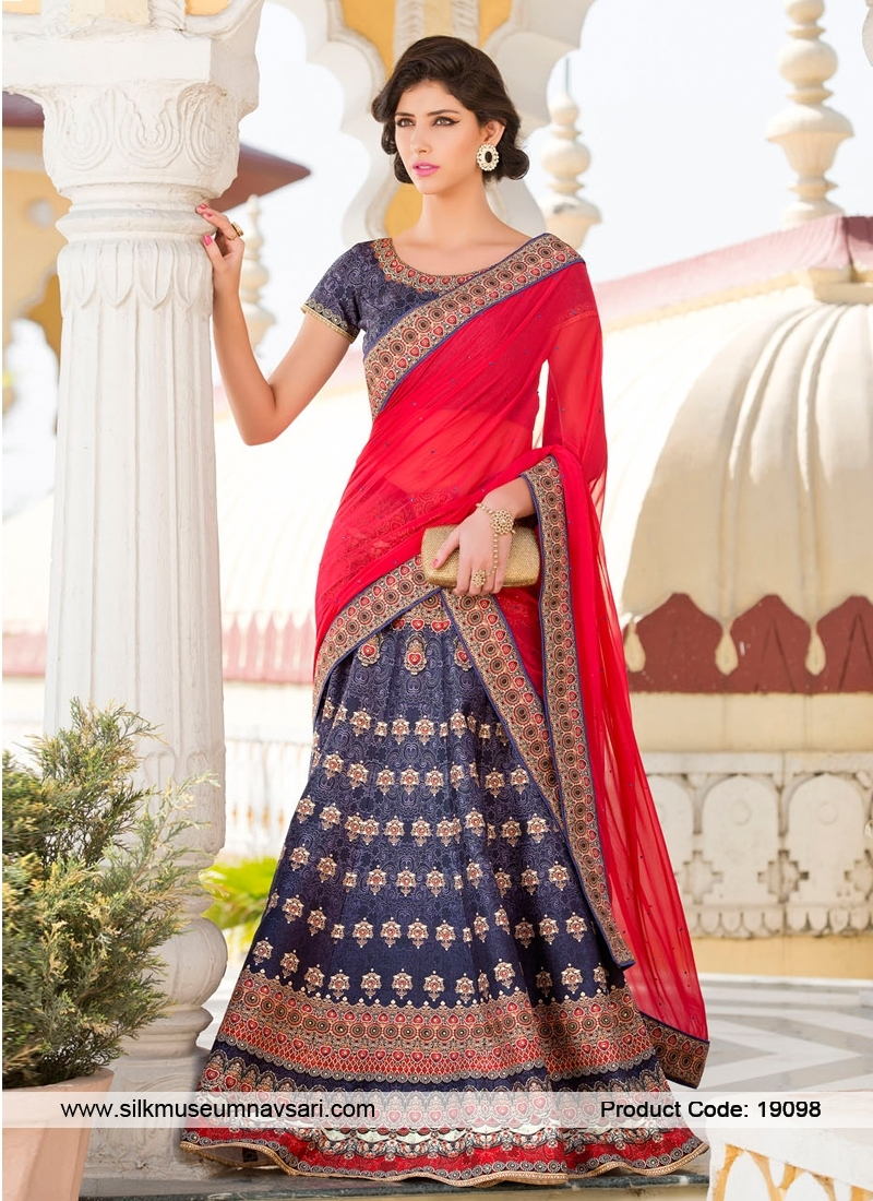 Trendy Look Silk Printed Designer Lehenga Choli