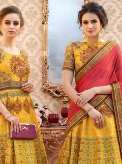 Versatile Look Banarasi Silk Designer Lehenga Choli