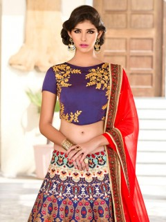 Vibrant Look Silk Printed Party Wear Lehenga Choli