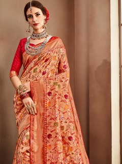 Wonderful Embroidery Designer Silk Saree