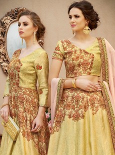 Wonderful Look Banarasi Silk Designer Lehenga Choli