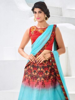 Amazing Look Silk Printed Designer Lehenga Choli