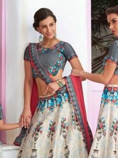 Beautiful For Weaving Print Lehenga Choli