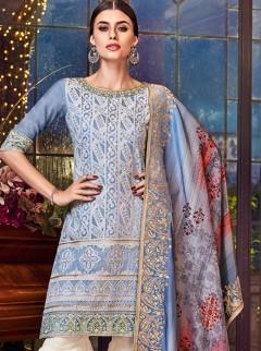 Beautiful Lakhnavi Embroidery Designer Suit