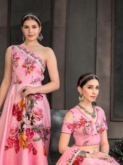 Blooming Pink Colour Designer Fancy Lehenga