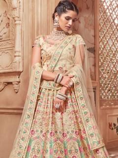 Charming Resham Embroidery Wedding Designer Lehenga