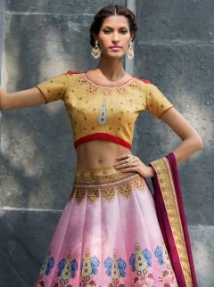 Classical Look Silk Printed Casual Wear Lehenga Choli