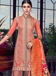 Classy Embroidery And Silk Designer Suit
