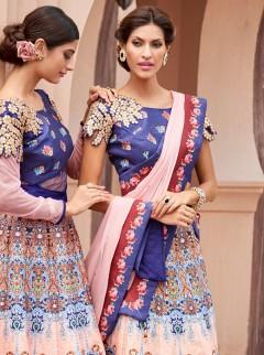 Dazzling Look Silk Party Wear Designer Suit