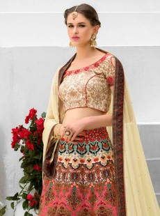 Efficient Look Silk Printed Designer Lehenga Choli