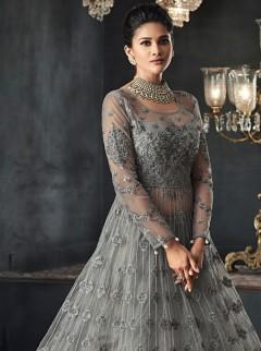 Elite Grey Colour Net Designer Gwon