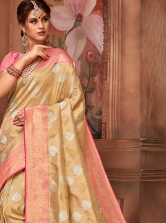 Exclusive Butta Work Designer Silk Saree