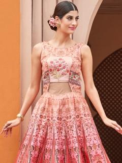 Exclusive Look Pink Colour Silk Designer Suit