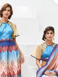 Fashionable Look Silk Party Wear Designer Suit