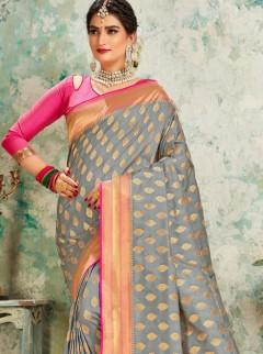 Glamorous Butti Work Designer Saree