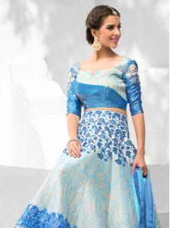 Graceful Look Silk Printed Party Wear Lehenga Choli