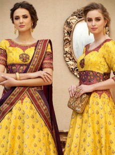 Magnificent Look Banarasi Silk Designer Lehenga Choli