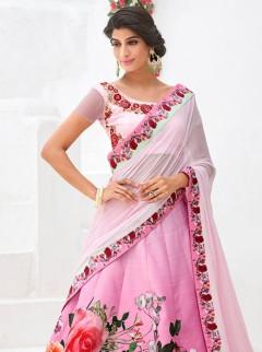 Rapturous Look Silk Printed Designer Lehenga Choli