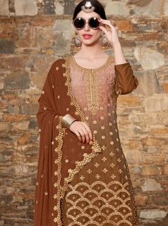 Ravishing Brown Color Designer Salwar Suit