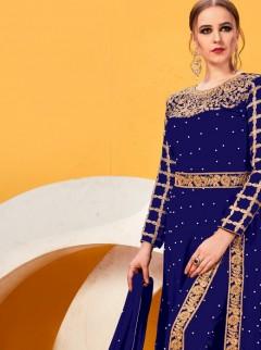 Ravishing Royal Blue Colour Georgette Suit