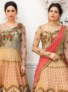 Spectacular Multi Colour Embroidery Lehenga Choli