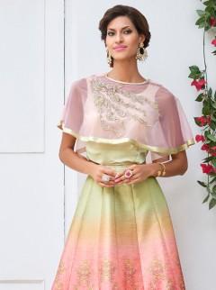 Versatile Look Silk Shaded Party Wear Designer Suit