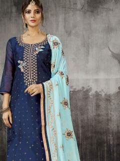 Vibrant Modal Silk Party Wear Chudidar Suit